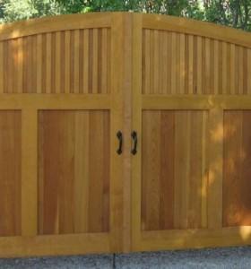 "Driveway Gate with 10"" Dark Bronze Thumb Latch & Dummy Handle"