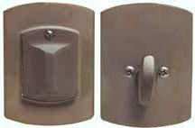 Single Cylinder Emtek Deadbolt for Gates and Doors 8474