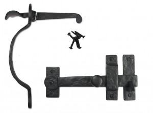 Black Iron Door Hardware and Gate Hardware Thumb Latch