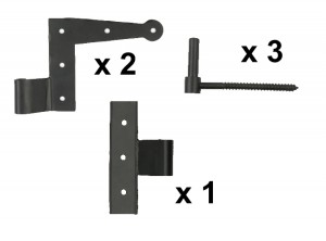 Stainless Steel Suffolk & Center Hinge Set with Pintles
