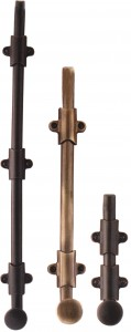 Solid Brass Surface Bolts by Emtek to Lock a Gate 8511