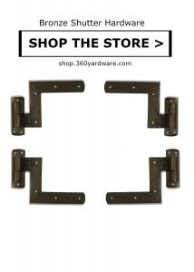 Coastal Bronze New York Style shutter hardware 70-610