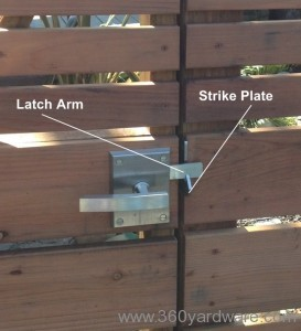 Stainless steel gate latch hardware