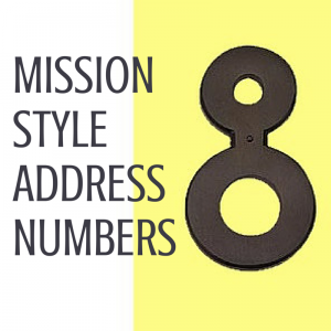 Mission Style House Numbers in Oil-Rubbed Bronze