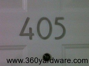"""Self-Adhesive 3"""" Bungalow Style Numbers for use on apartments, condos, and office buildings"""