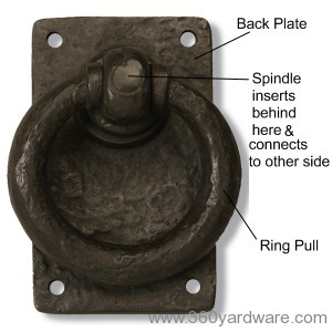 Dark Bronze Ring Gate Latch