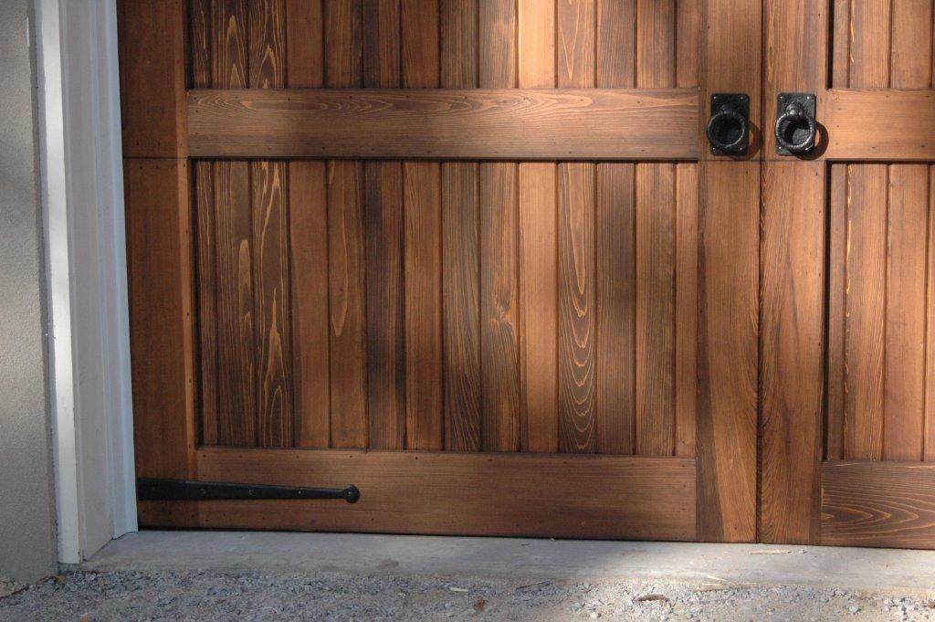 Decorative garage door strap hinges and pull handles