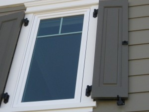 Close-Up of the windows, shutters and Lynn Cove hardware
