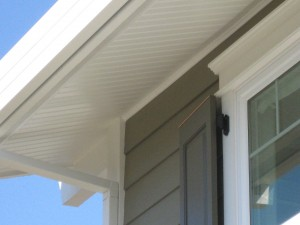 Great photo of this northern california exterior renovation and shutters