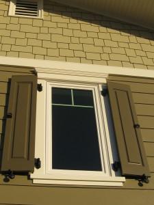 Raised panel exterior shutters
