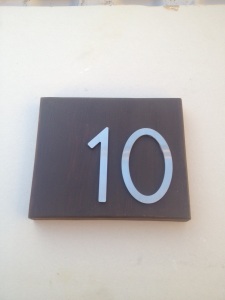 Self-Adhesive Stainless Steel Bungalow Style Address Numbers for Apartments and Condos