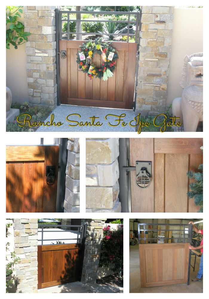 Asian style gate hardware on ipe and metal gate by bejar gate
