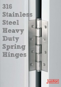 316 Stainless Steel Heavy Duty Spring Hinges at 360 Yardware (pair)