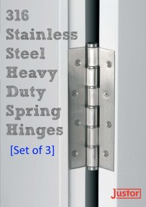 316 Stainless Steel Heavy Duty Spring Hinges at 360 Yardware set of 3