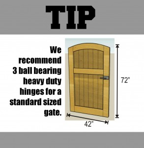 tip-how many hinges on a gate