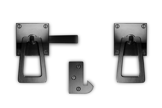 Modern Gate Latch with Tapered Ring Handle by 360 Yardware