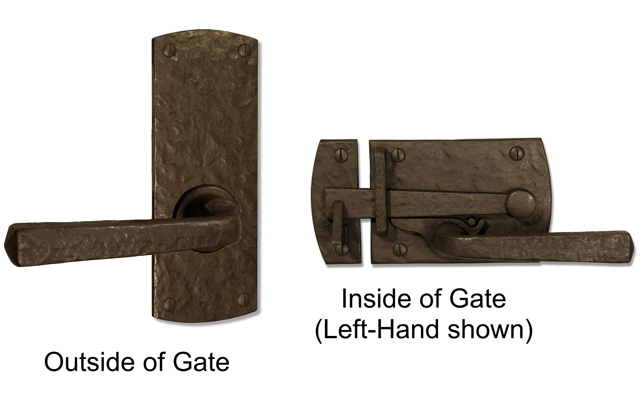 Lever gate latch for contemporary and transitional styles