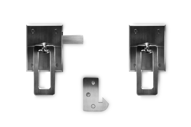 Elise Stainless Steel Modern Ring Gate Latch by 360 Yardware