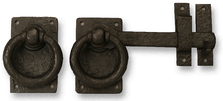 Dark Bronze Gate Latch with Ring Handle, a Rustic and Traditional Gate Latch