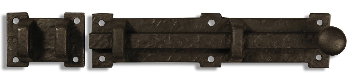 Bronze slide bolt hardware for wooden gates