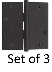 Emtek Heavy Duty Solid Brass Ball Bearing Hinges for Heavy Doors and Gates 96414 - Set of 3