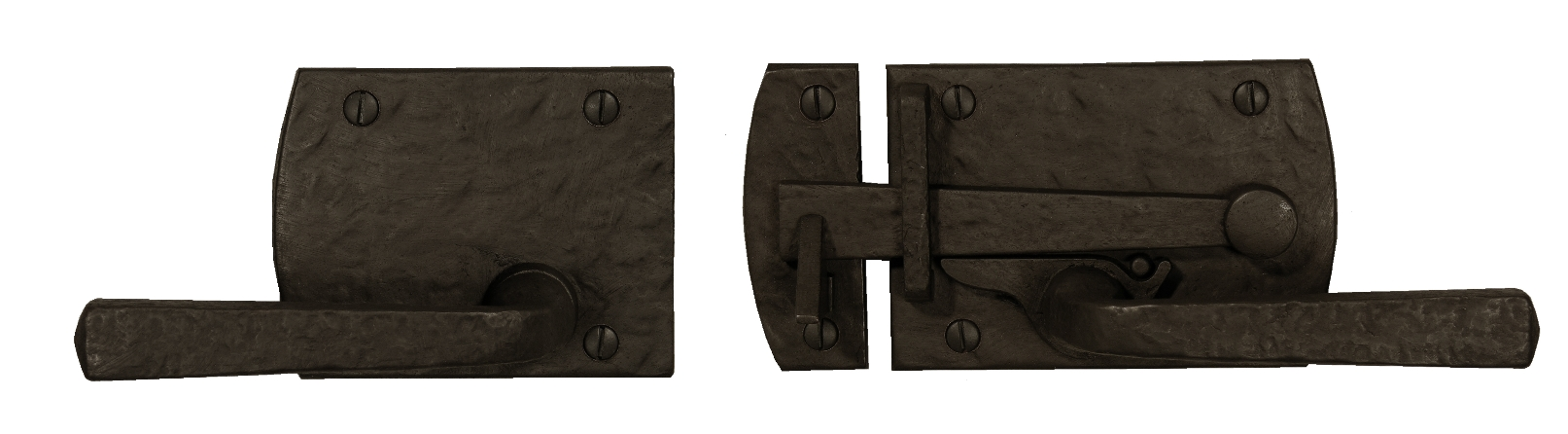 Cast Bronze Contemporary Lever Gate Latch with Square Handle