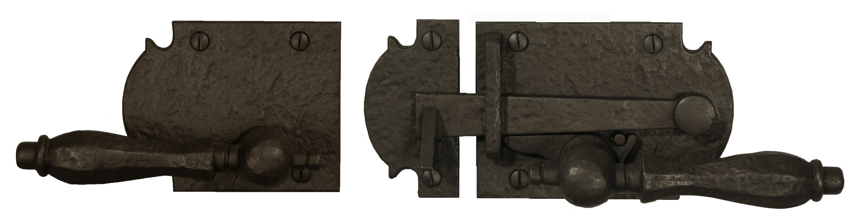 Dark Bronze Ornate Lever Gate Latch with Octagonal Handle
