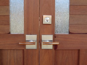 Contemporary Wood Gate with Stainless Steel Gate Hardware
