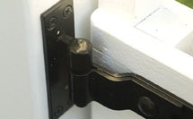 Strap hinge and pintle
