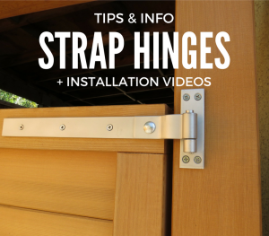 heavy duty strap hinge installation