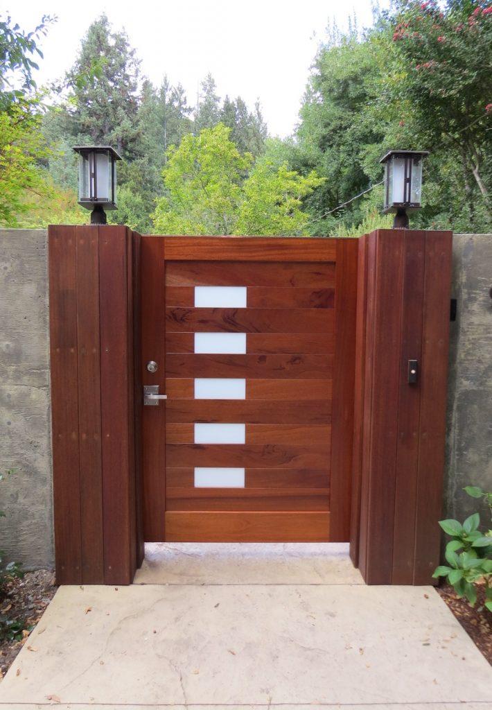 Santa Cruz Mountains Courtyard Entry Gate - Hidden Garden