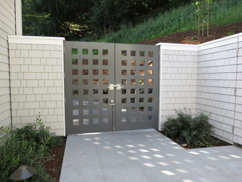 Contemporary Custom Gate with cane bolt and dummy handles