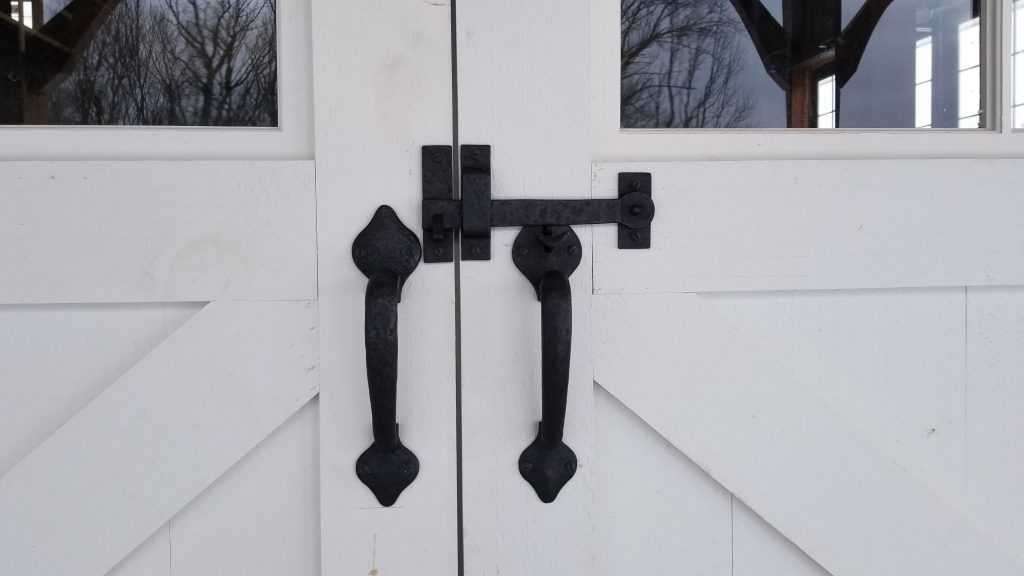 Bronze Latch for Carriage House Doors with Dummy Handle